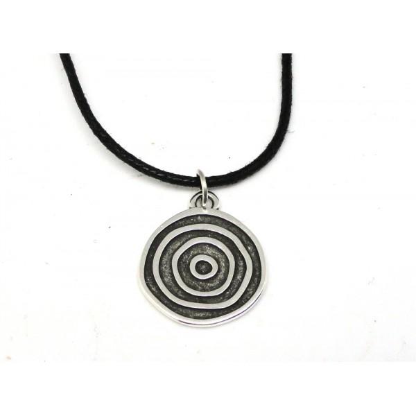Colgante medalla circulo concentrico irregular pl v
