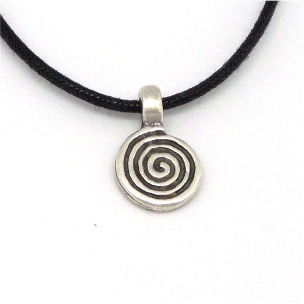 Colgante pequeño espiral redonda