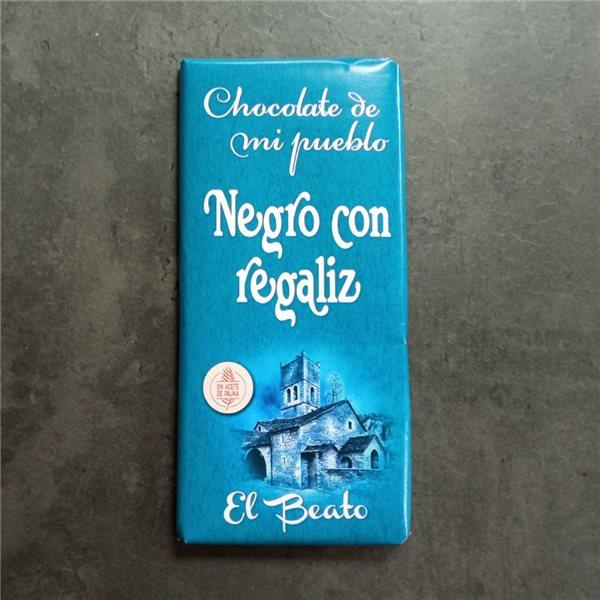 Chocolate negro con regaliz