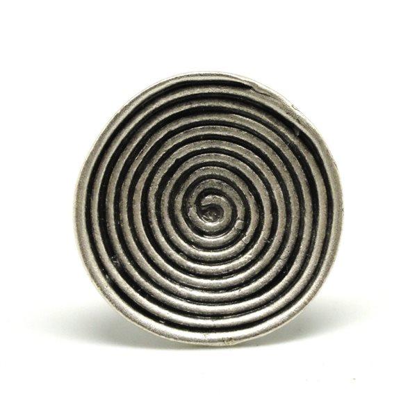 Anillo fantasia espiral concavo