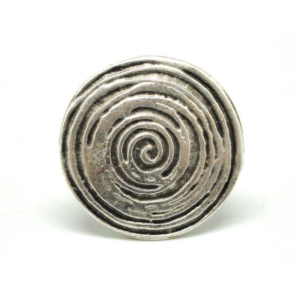 Anillo fantasia espiral irregular